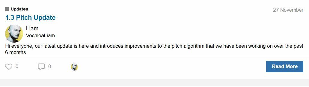 Pitch Update